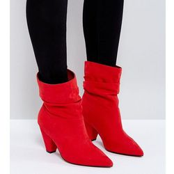 ASOS REEVES Wide Fit Slouch Heeled Ankle Boots - Red