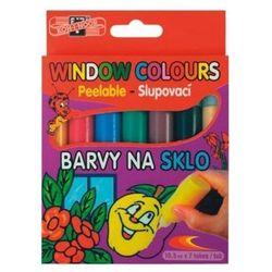 Farby witrażowe 10,5ml 5 kolorów + 2 kontury