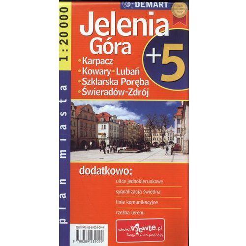 Mapy i atlasy turystyczne, JELENIA GÓRA PLUS 5. PLAN MIASTA (opr. miękka)