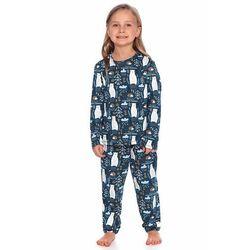 Piżama dziecięca Las granatowa z niedźwiadkami