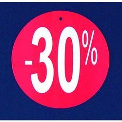Komplet (100szt.) metek,,-30%'' do metkownicy igłowej