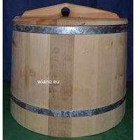 Pozostałe akcesoria i przyrządy kuchenne, Naczynie drewniane - dzieża do chleba - do wyrabiania i wyrastania ciasta