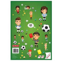 Blok rysunkowy z naklejkami A4 20 kartek, HERLITZ - piłka