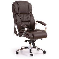 Fotel gabinetowy obrotowy HALMAR FOSTER ciemny brąz Skóra - ZŁAP RABAT: KOD100