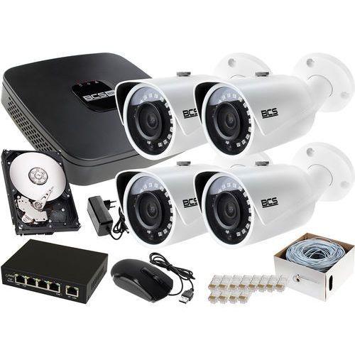 Zestawy monitoringowe, 4x Zestaw do rozbudowy BCS-NVR08015ME-II 1TB akcesoria