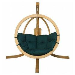 Zielony fotel wiszący na taras - Parys 2X