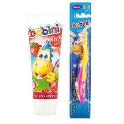 BOBINI Zestaw dziewczynka Pasta do zębów 75ml + szczoteczka + kubeczek Dla dzieci 6+