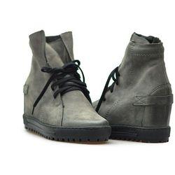 Sneakersy Eksbut 75-3975-G76-1G Szare nubuk