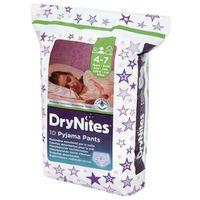 Pozostałe pieluchy, HUGGIES DryNites GIRL (17-30kg) majteczki na noc 10szt pieluszki