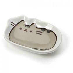 Pusheen - Mały ceramiczny talerzyk z wizerunkiem kultowej kotki (7 x 14 cm)
