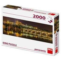 Puzzle, Karlův most v noci: panoramic puzzle 2000 dílků neuveden