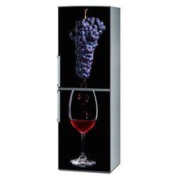 Mata magnetyczna na lodówkę - Kieliszek wina i winogrona 4324