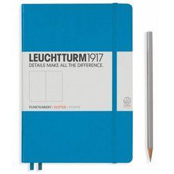 Notes Medium Leuchtturm1917 w kropki lazurowy