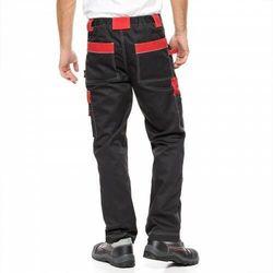 Spodnie do pasa HELIOS AVACORE w kolorze czarno-czerwonym