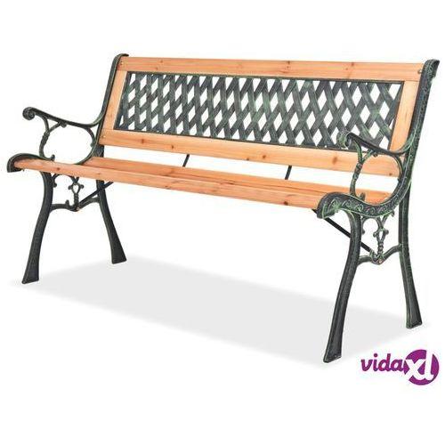 Ławki ogrodowe, vidaXL Ławka ogrodowa, 122 cm, drewniana
