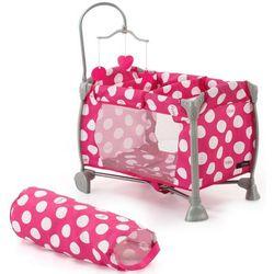 Łóżeczko dla lalek w kropki Starlight - BEZPŁATNY ODBIÓR: WROCŁAW!