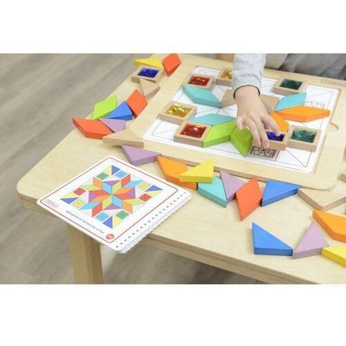 Układanki, MASTERKIDZ Układanka Mozaika Nauka Kolorów i Kształtów Tangram