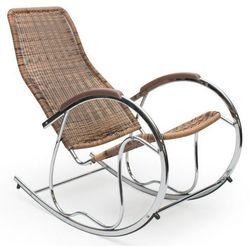 Fotel bujany Belix - brązowy