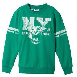 Bluza chłopięca z nadrukiem bonprix zielony