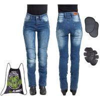 Spodnie motocyklowe damskie, Damskie jeansowe spodnie motocyklowe W-TEC Panimali, Niebieski, S
