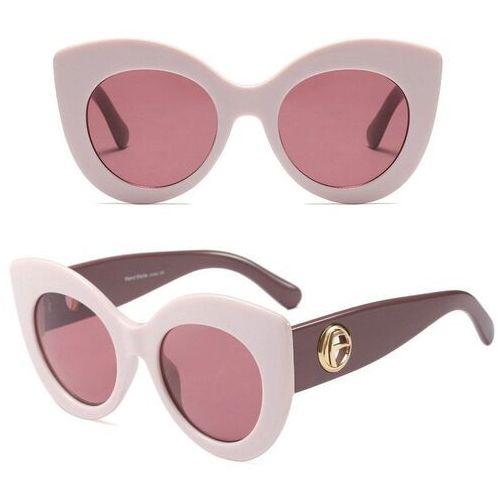 Okulary przeciwsłoneczne, Okulary przeciwsłoneczne damskie kocie oko różowe