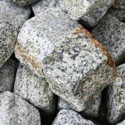 Kostka Granitowa 8 x 11 cm SZARO-ŻÓŁTA Obtaczana