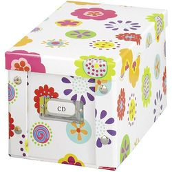 Pudełko na płyty CD, 20 sztuk - motyw kwiaty, ZELLER