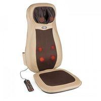Masażery i pasy odchudzające, KLARFIT Nukuoro mata nakładka do masażu shiatsu 3 strefy masażu brązowa