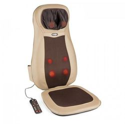 KLARFIT Nukuoro mata nakładka do masażu shiatsu 3 strefy masażu brązowa