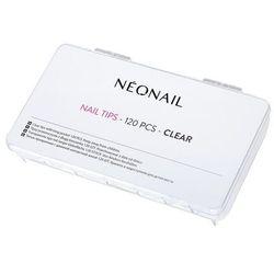 Tipsy przezroczyste 120 szt. z długą kieszonką NEONAIL