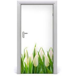 Okleina Naklejka fototapeta na drzwi Białe tulipany