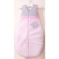 MAMO-TATO Śpiworek dziecięcy haftowany Słonik różowy 86-110