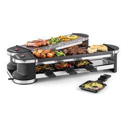 Klarstein Tenderloin 50/50 grill-raclette 1200W 8 osób kamień naturalny
