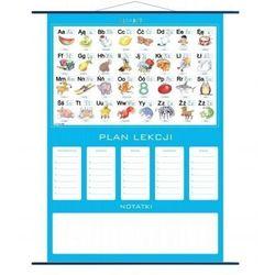 Plan lekcji - alfabet, plansza edukacyjna