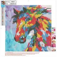 Pozostałe artykuły szkolne, Mozaika diamentowa 5D 30x30cm Horse 89627