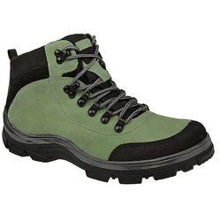 Trzewiki trekkingowe ocieplane KORNECKI 3854 Zielone - Zielony ||Czarny