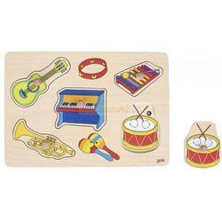 Układanka z uchwytami- instrumenty muzyczne, układanka dźwiękowa, Goki 57520