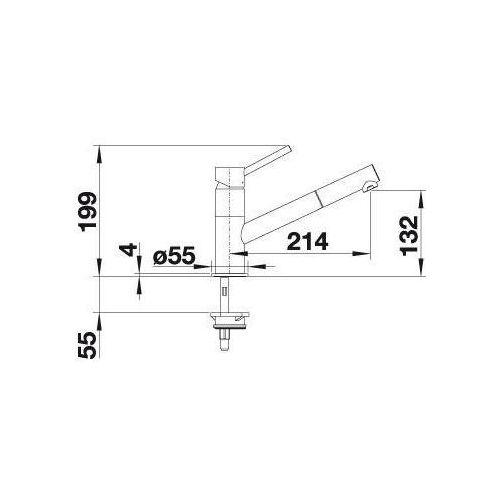 Baterie do kuchni, Bateria Blanco Kano-s 525044