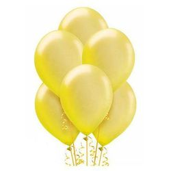Balony lateksowe duże - 12 cali - żółte - 25 szt.