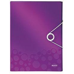Teczka z gumką Leitz Wow A4 4629-62 fioletowa