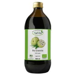Graviola 100% Sok z Puree bez cukru BIO 500 ml NatVita