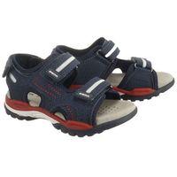 Sandały dziecięce, GEOX J920RD J BOREALIS BOY 000CE C0735 navy/red, sandały dziecięce, rozmiary:28-34