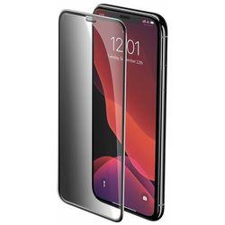 Baseus 2x szkło na cały ekran Full Screen 0.3mm 9H Privacy Anti-Spy iPhone 11 Pro Max / iPhone XS Max + pozycjoner czarny (SGAPIPH65S-WC01)