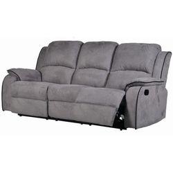 3-osobowa sofa z funkcją relaks z mikrofibry HERNANI - Szary