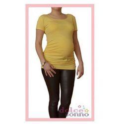 Bluzka ciążowa podkreślająca brzuszek Słoneczna kr. Rękaw
