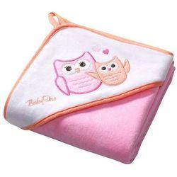 BabyOno Okrycie kąpielowe WELUR 76x76 cm, różowe