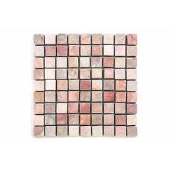 Mozaika marmurowa Garth na siatce czerwona 1m2