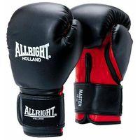 Rękawice do walki, Rękawice bokserskie Allright Master PU czarno-czerwony 2051