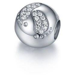 Rodowany srebrny charms pandora dziecięce stópki nóżki cyrkonie srebro 925 GS075
