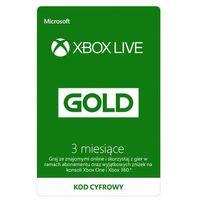 Klucze i karty przedpłacone, Subskrypcja Xbox Live Gold (3 m-ce) [kod aktywacyjny]